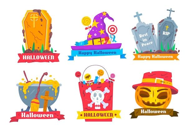 Halloween label collectie