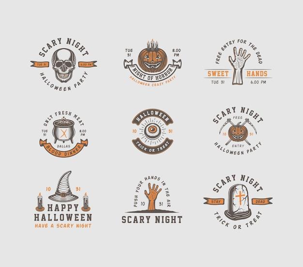 Halloween-logo's, emblemen