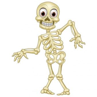 Halloween menselijk skelet