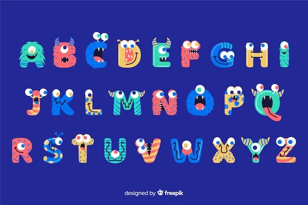 Halloween monster alfabet