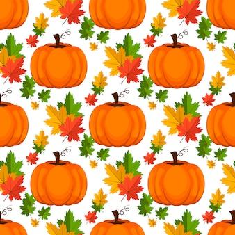 Halloween naadloos patroon. achtergrond met pompoen.