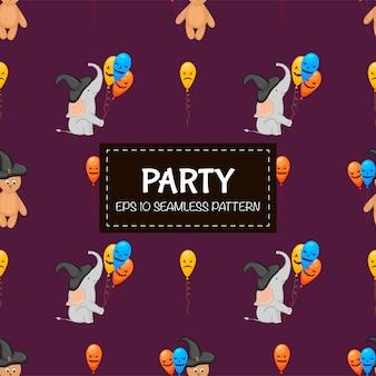 Halloween naadloos patroon met olifanten. cartoon stijl.