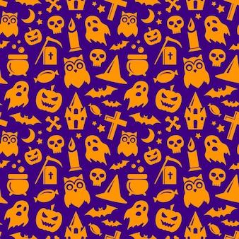 Halloween naadloos patroon. vector achtergrond