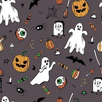 Halloween, naadloos patroon.