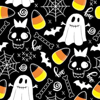 Halloween naadloos patroon.