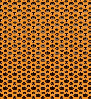 Halloween naadloze patronen met pompoenen