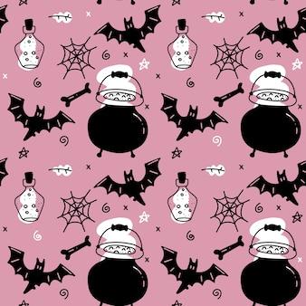 Halloween naadloze patroon voor meisjes