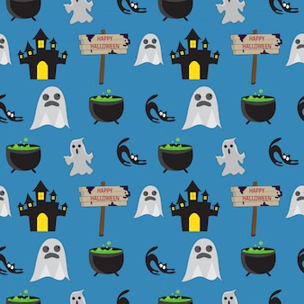 Halloween naadloze patroon
