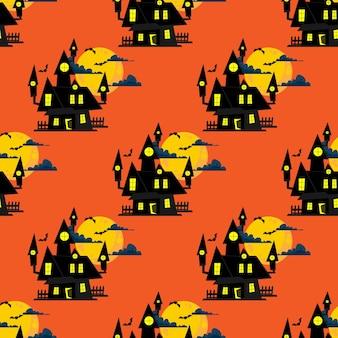 Halloween naadloze patroon.