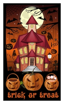 Halloween nacht illustratie