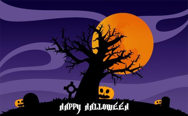 Halloween nacht illustratie