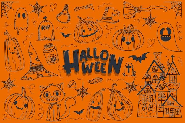 Halloween-nachtbanner