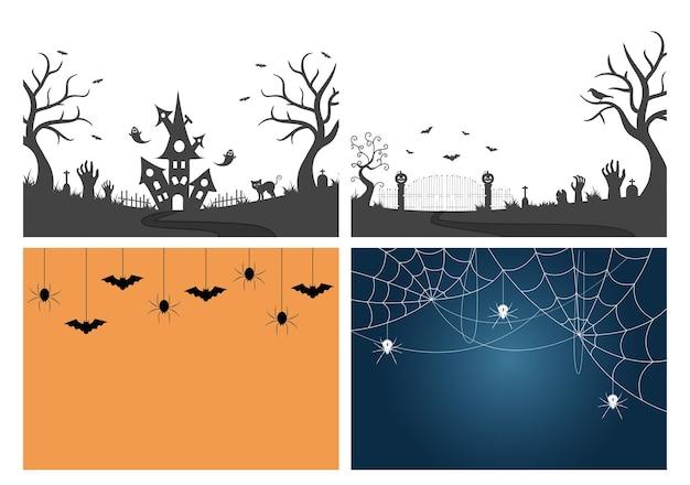 Halloween nachtfeest illustratie