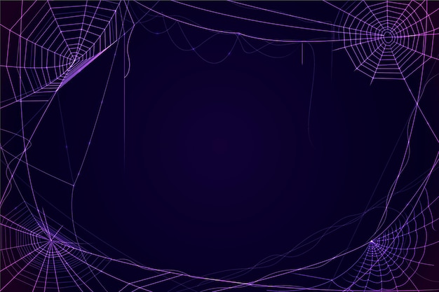 Halloween neon spinneweb behang