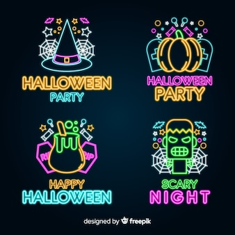 Halloween neon teken collectie