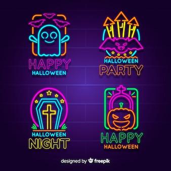 Halloween neon teken collectie