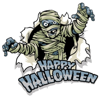 Halloween ontwerp mummie ontwerp