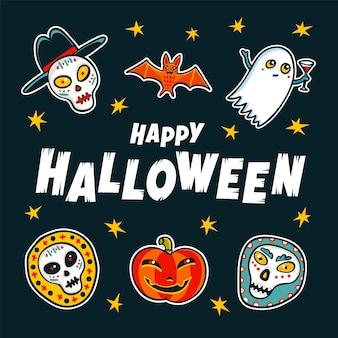 Halloween-ontwerpelementen