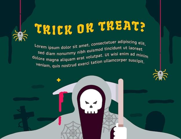 Halloween partij grafische sjabloon