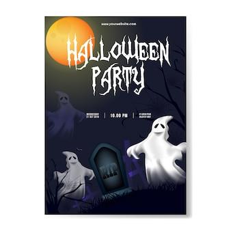 Halloween-partijachtergrond met spoken