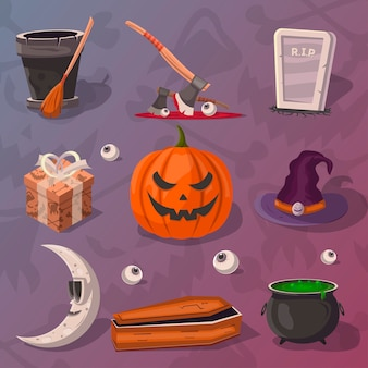 Halloween-partijbeeldverhaal s reeks