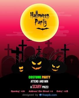 Halloween party flyer sjabloon kostuum partij