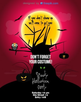 Halloween party flyer speciale template