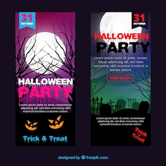 Halloween party flyers pack