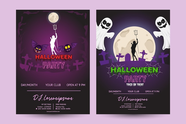 Halloween party poster achtergrond