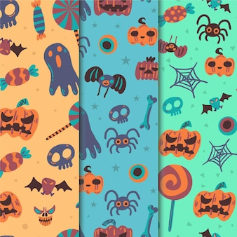 Halloween patroon collectie thema