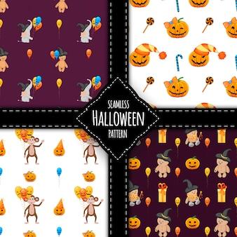 Halloween patroon ingesteld illustratie