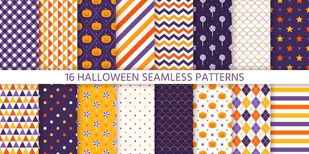 Halloween patroon ingesteld