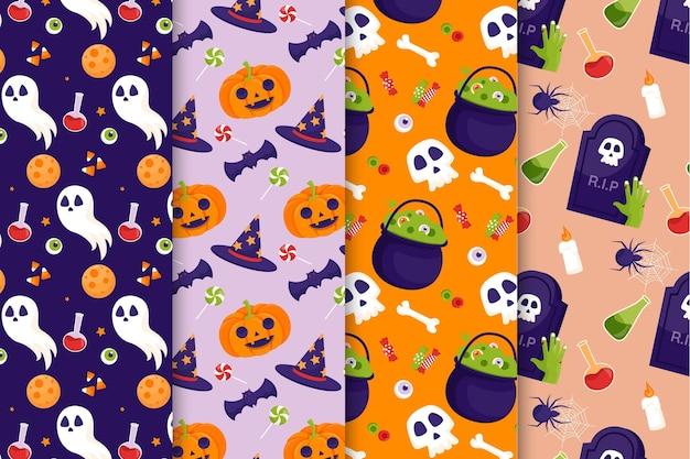 Halloween patroon thema