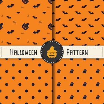 Halloween-patroon vastgestelde achtergrond voor halloween-partij.