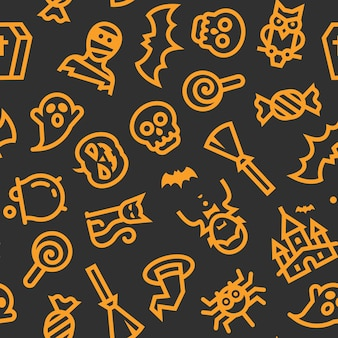 Halloween pictogrammen patroon
