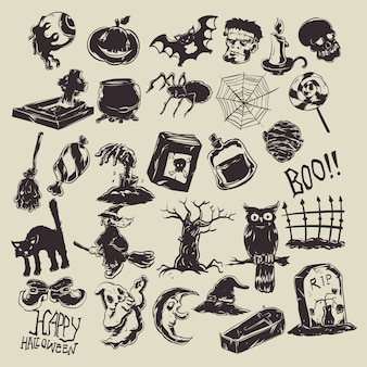 Halloween pictogramserie