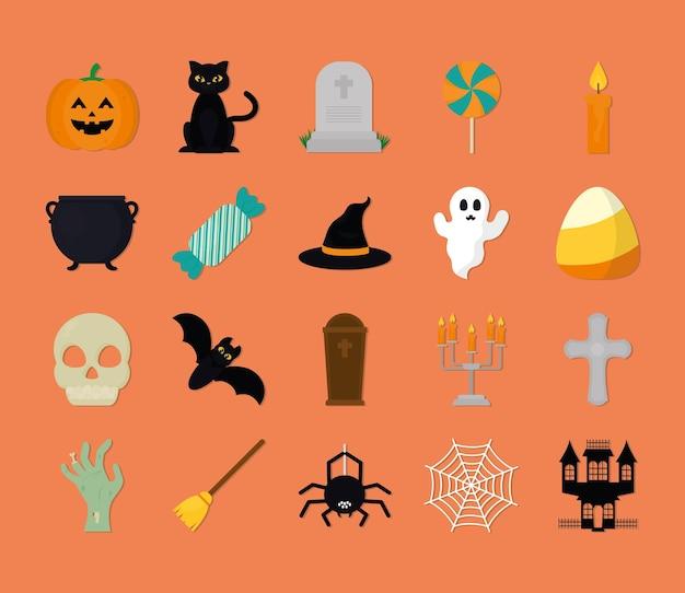 Halloween-pictogramset
