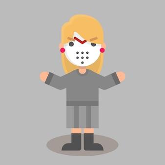 Halloween platte jason vrouw