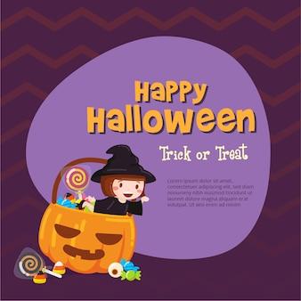 Halloween platte ontwerp achtergrond