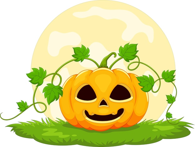 Halloween pompoen cartoon