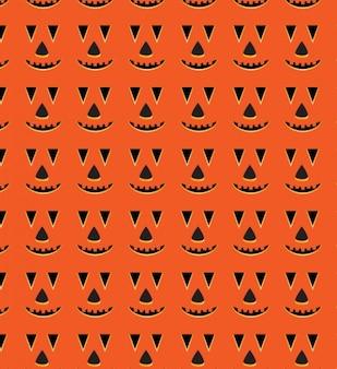 Halloween pompoen gezicht naadloos patroon
