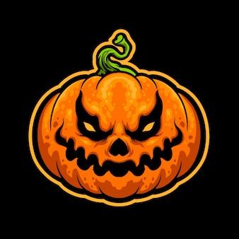 Halloween pompoen hoofd sticker