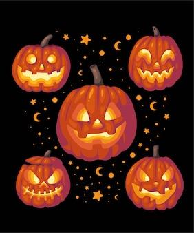 Halloween pompoen illustratie