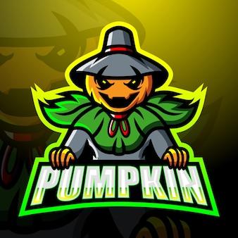 Halloween pompoen mascotte esport illustratie