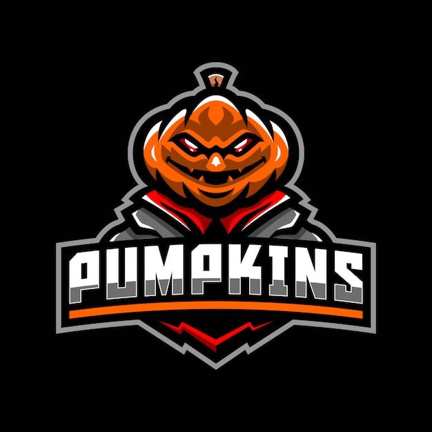 Halloween pompoen mascotte logo