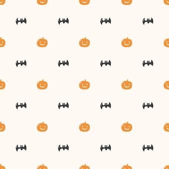 Halloween pompoen naadloos patroon