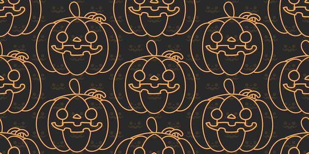 Halloween-pompoen naadloos patroon.