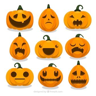 Halloween pompoen set