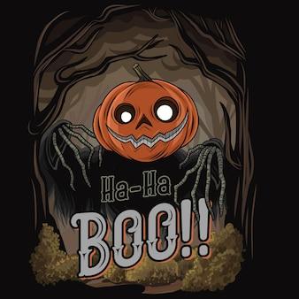 Halloween-pompoen - tshirt vectorillustratie.