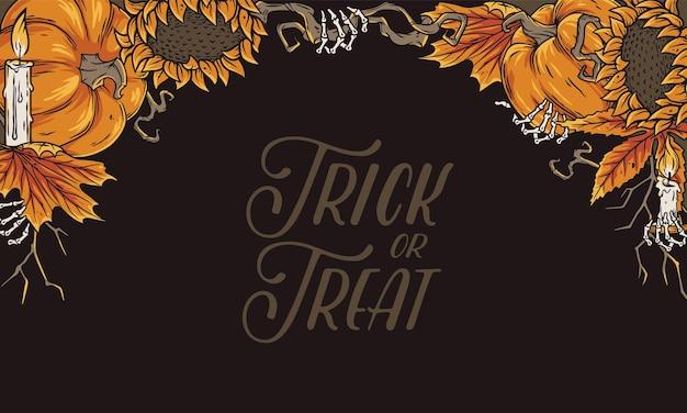 Halloween-pompoenachtergrond voor de herfst een feestje